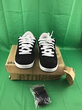 ETNIES Skate Shoes LO-CUT BLACK/WHITE  (READ DESCRIPTION)