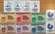 1983 Helsinki Athletics World Champ Tickets x 6 + Stickers / Finland