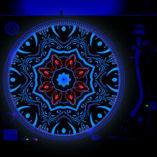 Dj Turntable Slipmat 12 inch Glow under Blacklight - Jungle Tribal