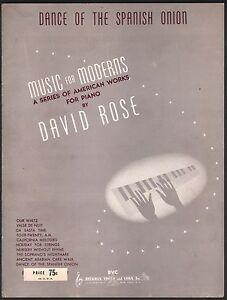 Dance of the Spanish Onion 1942 Piano Sheet Music