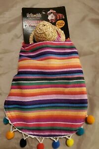 Small Mexican Serape With Sombrero Hat Dog for tiny dog, chinchilla or other pet