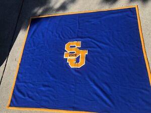 Vintage San Jose State University Blanket 70x60 Vtg