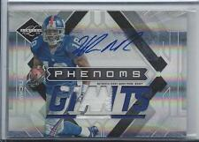 HAKEEM NICKS 2009 LIMITED PHENOMS RPA 2 COLOR PATCH AUTO RC #D 77/149