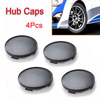4PCS Auto Car Wheel Center Hub Caps Cover No Emblem Black 68mm Universal ABS