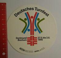 Aufkleber/Sticker: Deutsches Turnfest Dortmund Bochum 1990 (07081636)