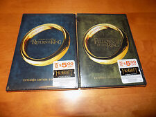 THE RETURN OF THE KING + FELLOWSHIP OF THE RING Extended Edition DVD SETS NEW