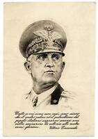 Royalty Italian King Cartolina postale per le forze armate Bologna 1943 S571