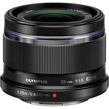 New Olympus M. Zuiko Digital 25mm f1.8 Lens 25/1.8 Micro 4/3 Black FREE SHIP