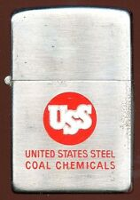 Circa 1950 Zippo Lighter with Factory-Engraved US Steel (USS) Advertisement