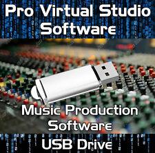 Multi-Track Musik Bearbeiten, Mischen, Aufnahme Virtual Studio Produktion USB Drive