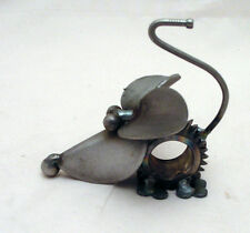 New Yardbirds Unpainted Recycled Metal Speedy Gear Mouse Sculpture Handmade