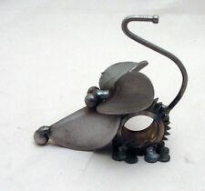 New Yardbirds Unpainted Recycled Metal Speedy Gear Mouse Sculpture Handmade