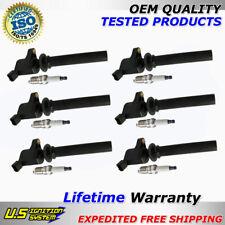 6 Ignition Coil DG500 + Spark Plugs For 99-2011 Ford, Mazda, Mercury 3.0L V6