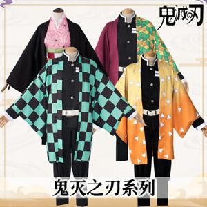 Demon Slayer Kimetsu no Yaiba Tanjirou Cosplay Costume Kamado Nezuko Outfit New