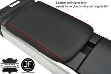 RED STITCH TOP GRAIN REAL LEATHER REAR ARMREST COVER FOR MAZDA RX8 2003-2012
