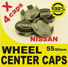 tapas llantas  ruedas de tu coche wheel center caps NISSAN NEGRO 55mm 60mm 4x