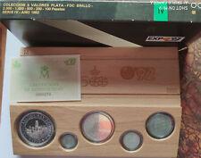ESPAÑA Colección 5 valores plata 1992 FDC Brillo - V Centenario  - IV serie