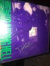 Run DMC Signed Vinyl LP Raising Hell Vintage Jam Master Jay, Run & DMC RARE!