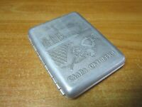 """Collectible Vintage cigarette case """"Glory to October"""" USSR Russian Soviet Union"""