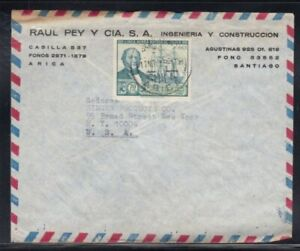 CHILE Commercial Cover Arica to New York City 11-11-1968 Cancel