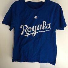 Eric Hosmer #35 Kansas City Royals Majestic Youth Medium M 10/12 Blue T shirt 👕