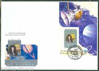 GUINEA 2014 10th  ANNIVERSARY OF CASSINI'S VOYAGE TO SATURN  S/S FIRST DAY COVER