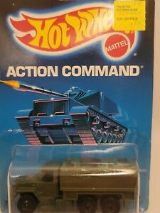 Hot Wheels 1986 Troop Convoy Action Command Series #9379 New Olive 1:64
