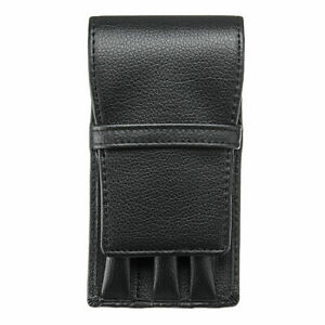 Leather  Pen Pouch  Black  Can Store 3 Pens   New