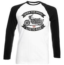 MOTO GUZZI V9-Nuovo T-shirt Cotone-Tutte le taglie in magazzino