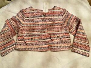 JANIE and JACK Girl Tweed Cropped Jacket NWT - Size 2T Orig. $69 #100032108