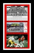 GEORGIA BULLDOGS WINS 1980 NCAA FOOTBALL TITLE MATTED PIC OF TEAM/ TIC/ HERSCHEL