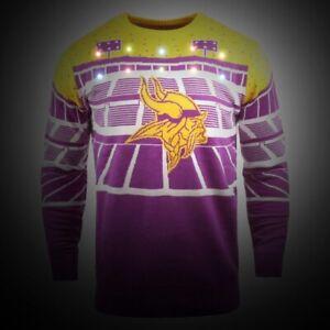 NFL Ugly Sweater Minnesota Vikings Jumper Christmas Bluetooth LED Lighting