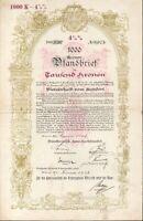 Niederösterreichische Landes Hypothekenanstalt - Pfandbrief zu 1000 Kronen 1913