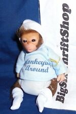 "ASHTON DRAKE SO TRULY REAL HEAVENLY HANDFULS DOLL ""MONKEYING AROUND"""