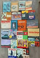 Vintage Lot of 23 Avalon Hill SPI Strategy Tactical Games - Rail Baron, Panzer +