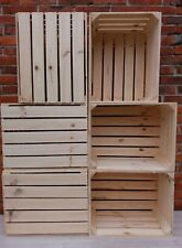 12 Solid-Strong Vintage Wooden Fruit Apple Crates Box Home Decor Retro - Clean!!