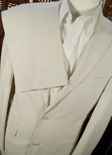 NEW $398 Jos A Bank Men Suit Sz:38L or 40L Tan Seersucker Tailored Fit Tropical