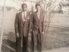 "Vintage  ""1956"" photo of 2 handsome African American young men"