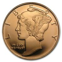 0,5 1/2 oz 999 Kupfer Copper Medaille Münze Mercury Dime Liberty USA NEU Selten