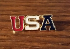 *NEW* USA Red, White & Blue USA Letters Lapel Hat Pin