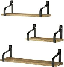Floating Shelves Wall Mounted 3Set Rustic Wood Storage for Bedroom and other