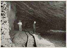 D1785 Cicagna - Banco di scavo nell'interno del monte - Stampa - 1934 old print