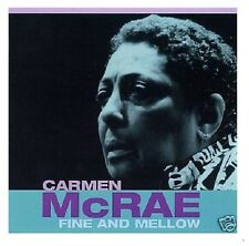 2 CD Carmen Mcrae 'Fine and Mellow' NEUF/NEW/NEUF dans sa boîte RARE VOCAL JAZZ-Snapper Music