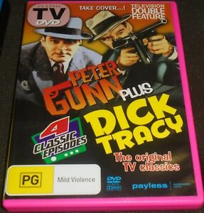 PETER GUNN PLUS DICK TRACY DVD PAL REGION 4 EPISODES DOUBLE FEATURE