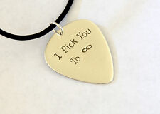 silver guitar pick necklace - solid sterling