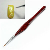 Nail Art Sable Pen Red Wood Fine Liner Drawing Brush Brushes Manicure Work Tool