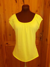 WALLIS chartreuse yellow-green stretch short sleeve t-shirt tunic top 14 42