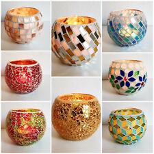 Mosaik Teelichthalter Teelicht Windlicht Kerzenhalter Mosaikglas Kugel bunt