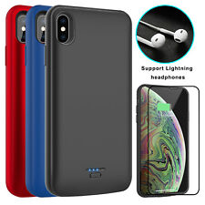 For iPhone XS Max/XR/XS/X Battery Charging Case Power Bank / HD Screen Protector