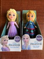 NEW Disney Princess Mini Toddler Posable Doll Frozen Elsa Lot Of 2